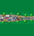 road highways with many different vehicles vector image