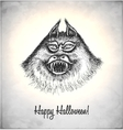 Scary monster in a sketch style vector image vector image