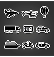 Set stickers transport vector image vector image