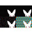 Set White Rabbit Background vector image vector image