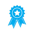 simply award medal icon on white background flat vector image