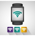 smart watch wearable technology internet with vector image vector image
