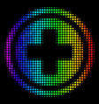 spectral colored pixel pharmacy icon vector image