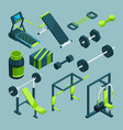 sports equipment for gym isometric vector image vector image