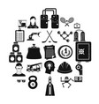 success icons set simple style vector image vector image