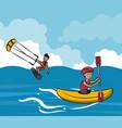 summer water sport concept vector image vector image