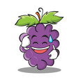 sweat smile grape character cartoon collection vector image vector image