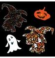 Symbols of Halloween vector image vector image