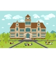 University or college building vector image vector image