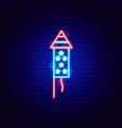 usa petard neon sign vector image vector image