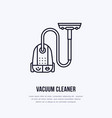 vacuum cleaner flat line icon logo vector image