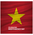 vietnam waving flag celebtraing independence day vector image vector image