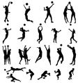Volley silhouettes vector | Price: 1 Credit (USD $1)