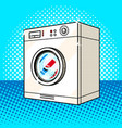 washing machine pink color pop art style vector image