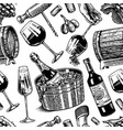 wine seamless pattern alcoholic drink or vector image vector image