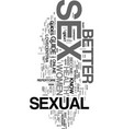 would you like to be known as a sex god text word vector image vector image