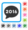 2016 message framed icon vector image