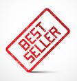 Best Seller Red Stamp vector image