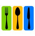 colorful cutlery icon vector image