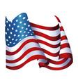 united states of america flag waving glossy symbol vector image