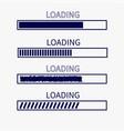loading progress status bar icon set web design vector image