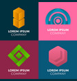 abstract geometric elements for business design vector image