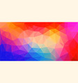 abstract mosaic background colourful triangles vector image vector image