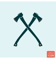 Axe icon isolated vector image vector image