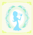 beautiful woman spraying perfume - silhouette vector image vector image