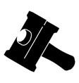 big sledgehammer icon simple black style vector image vector image