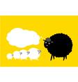 Black sheep thinking vector image vector image