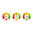 business meter or business indicator template vector image