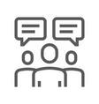 buzz marketing line icon vector image