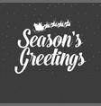 christmas decoration seasons greetings vector image