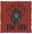 cowboy t-shirt label design vector image vector image