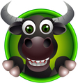 cute buffalo head cartoon vector image vector image