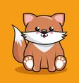 cute fox character kawaii style vector image
