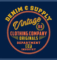 denim supply vintage vector image vector image