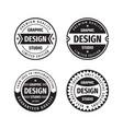 design graphic badge logo set in retro vector image vector image