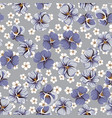 drawing of seamless pattern with viola flowers vector image