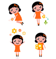 gardener girl set vector image vector image