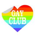 gay club label vector image