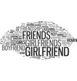 girlfriend word cloud concept vector image vector image