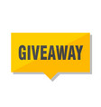 Giveaway price tag vector image