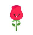 happy beauty cute smiling funny rose vector image vector image