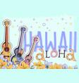 hawaiian postcard vector image vector image