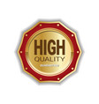 high quality medal badge golden icon guaranteed vector image vector image