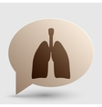 Human organs Lungs sign Brown gradient icon on vector image vector image