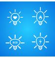 icon set light bulbs vector image