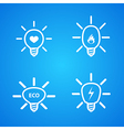 icon set of light bulbs vector image